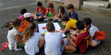 Gruppo di bambini del MEG, Movimento Eucaristico Giovanile - Parrocchia di san Saba, Roma